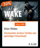 Alan Wake Downloadcode Xbox 360 billiger