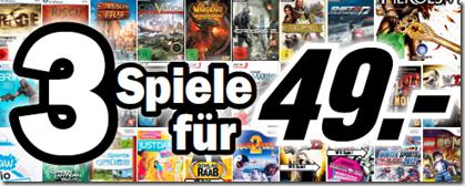 Media Markt und Saturn - 3 Spiele/Games für 49 € - schnäppchen