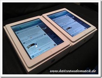 iPad 3  und iPad 2 nebeneinander - Vergleich/Test