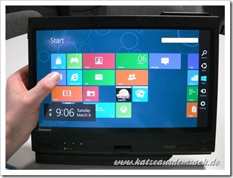 Windows 8 auf einem Lenovo X220 Tablet