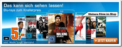 Reduzierte Blu-rays für 5 € bei Satun und amazon