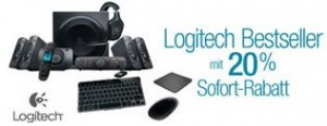 amazon - Logitech Aktion 20 Prozent Rabatt - Tastaturen, Mäuse, Fernbedienungen, Lausprecher
