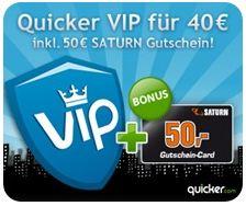 Quicker Deal: Saturn Gutschein