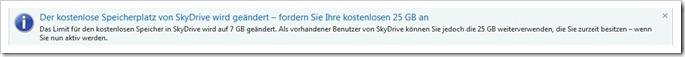 SkyDrive - jetzt noch die vollen 25 GB Cloud-Speicher sichern