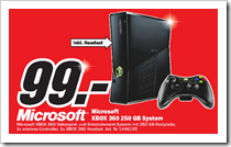 Media Markt - Xbox 360 Slim 250 GB - Angebot - Bremen Waterfront