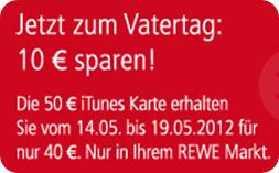 REWE, toom und kaufpark - 20% iTunes Guthaben