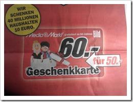 Bild60JahreMediaMarktGeschenkkarte - 60 Jahre Bildzeitung