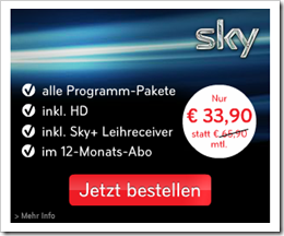 Günstigstes Angebot für Sky Abo komplett
