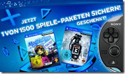 2 Games gratis beim Kauf einer PS Vita