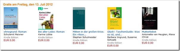 5 eBooks kostenlos - Download - Bücher gratis