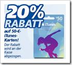 iTunes Guthabenkarten reduziert