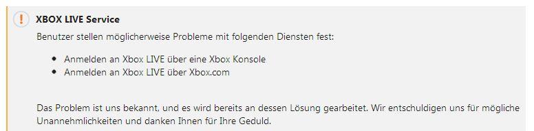 Xbox 360 Probleme Login