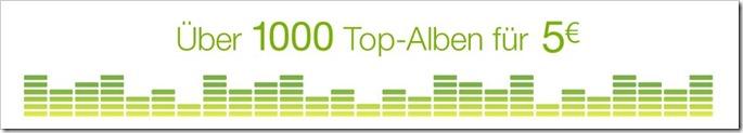 Reduzierte MP3-Alben, Cloud Player und Gratis MP3s