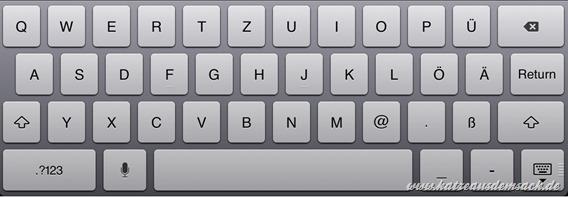 Apple iOS 6 - Tastatur mit Umlauten