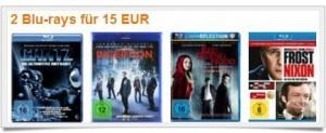 2 Bluray Filme für 15 € inkl. Versand