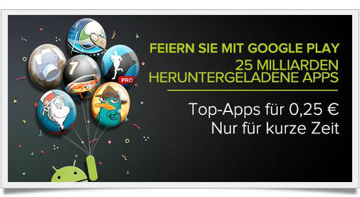 Reduzierte Apps Android - Google Play - 5 Tage