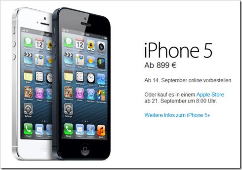 Preiserhöhung iPhone 5