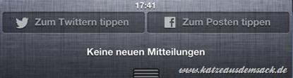 iOS 6 Facebook integriert