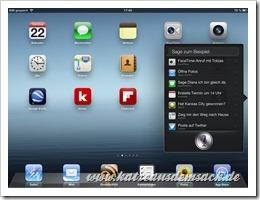 Siri auf dem iPad 3 - Sprachsteuerung - iOS 6