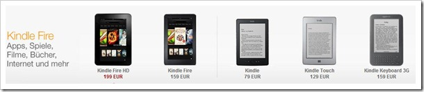 Kindle Fire HD - neues 7 Zoll Tablet von amazon