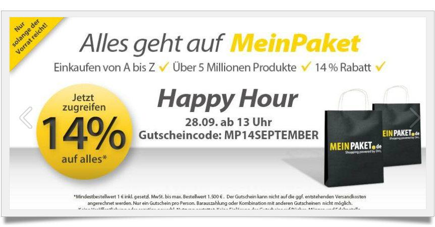 MEinPaket Gutschein - Rabatte