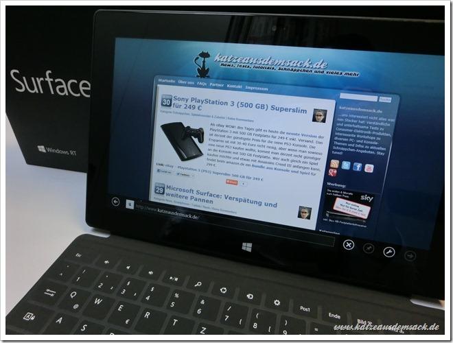 Microsoft Surface eingetroffen - Lieferung doch schneller als gedacht