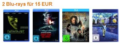 Aktionen Blurays bei amazon