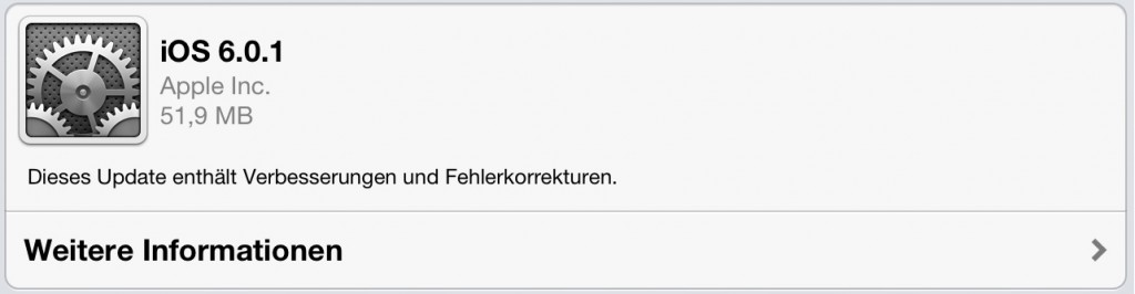 iOS 6.0.1 installieren - Was ist neu?