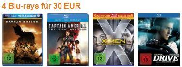 4 für 30 € - 7,50 € pro Film - reduziert - Angebot - Bluray - Heimkino