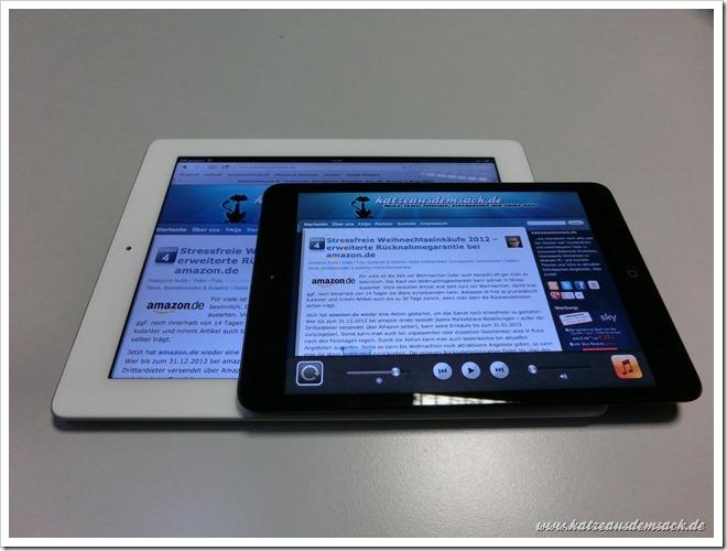 iPad mini - Größenvergleich iPad 3