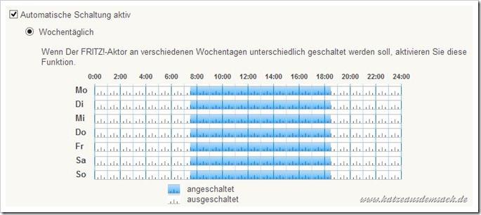 Steckdose - programmierbar - automatisch - Wochentage