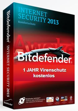 bitdefender internet security 2013 Lizenz für ein Jahr gratis