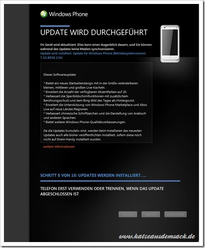 Windows Phone 7.8 Update in Zune