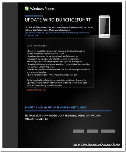 Windows Phone 7.8 Update in Zune