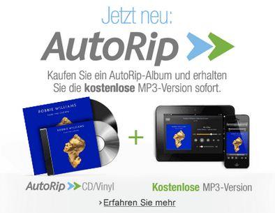 AutoRip - MP3s direkt und kostenlos zum CD oder Vinyl-Kauf bei amazon