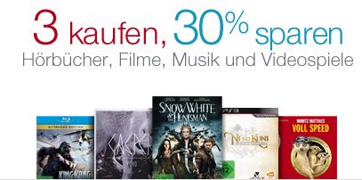 amazon-30-prozent-rabatt-filme-games-musik-hoerbuecher-dvd-bluray-cds