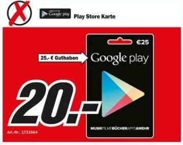Media Markt Google Play Karten Guthaben Rabatt Nrw