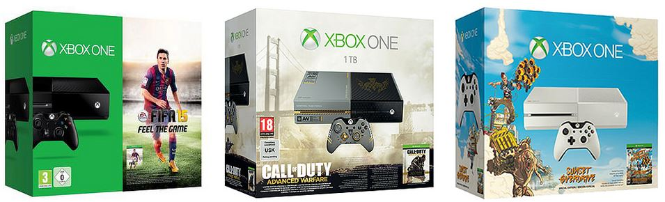 xbox-one-bundles-fifa15-weisse-xbox-one-call-of-duty-1-tb-festplatte