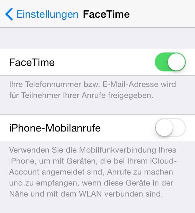 iPhone-Mobilanrufe deaktivieren