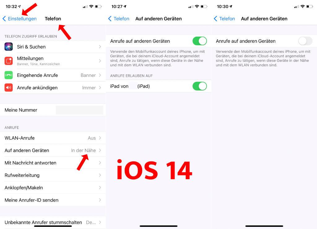 iOS 14 - Anrufe klingeln auf mehreren Geräten