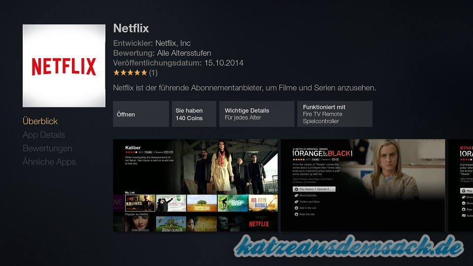 amazon fire tv utility app deutsch