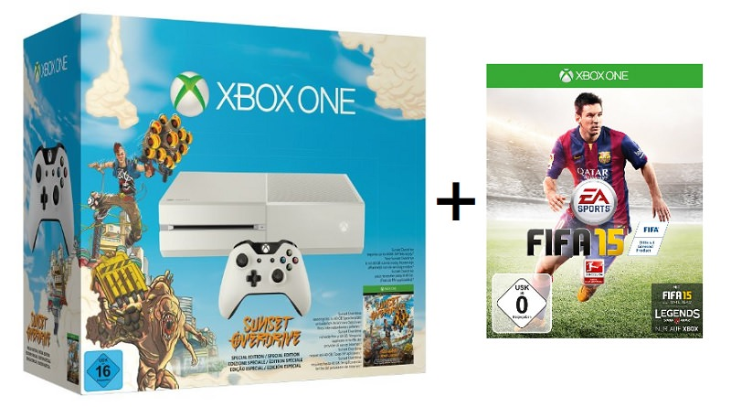 xbox-one-weiss-sunset-overdrive-fifa-15-fuer-379-euro-schnaeppchen
