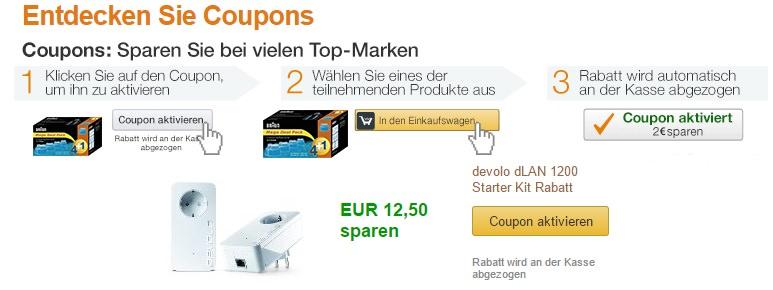 amazon coupons starten in deutschland digitale rabattmarken. Black Bedroom Furniture Sets. Home Design Ideas