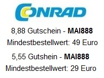 Conrad / Conrad.de Gutscheine Mai 2015