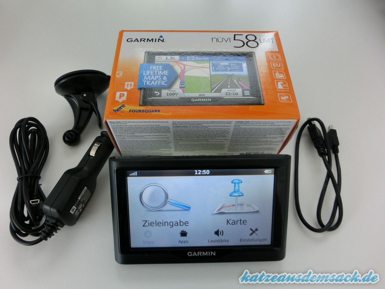 test garmin n vi 58lmt 39 navigationsger t mit. Black Bedroom Furniture Sets. Home Design Ideas