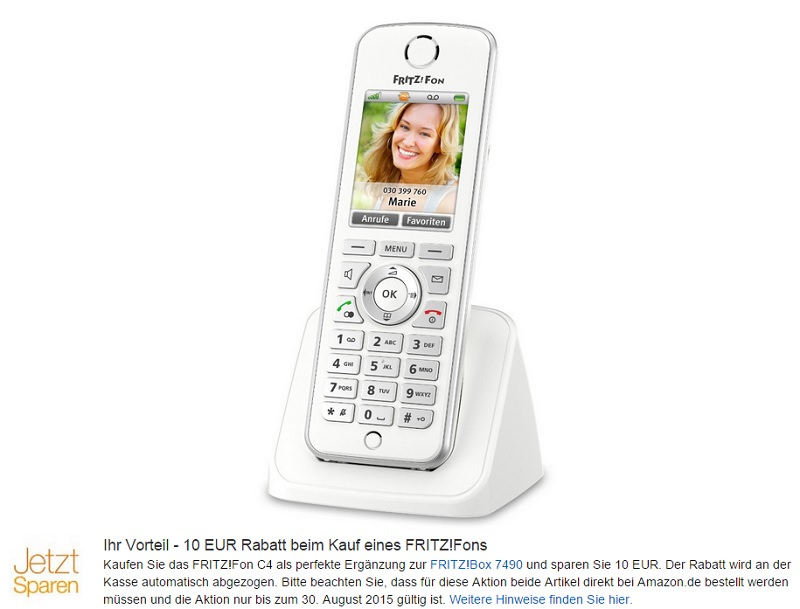 Fritz!FonC4-DECT-Telefon-fritzbox-10-euro-rabatt-avm-sparen