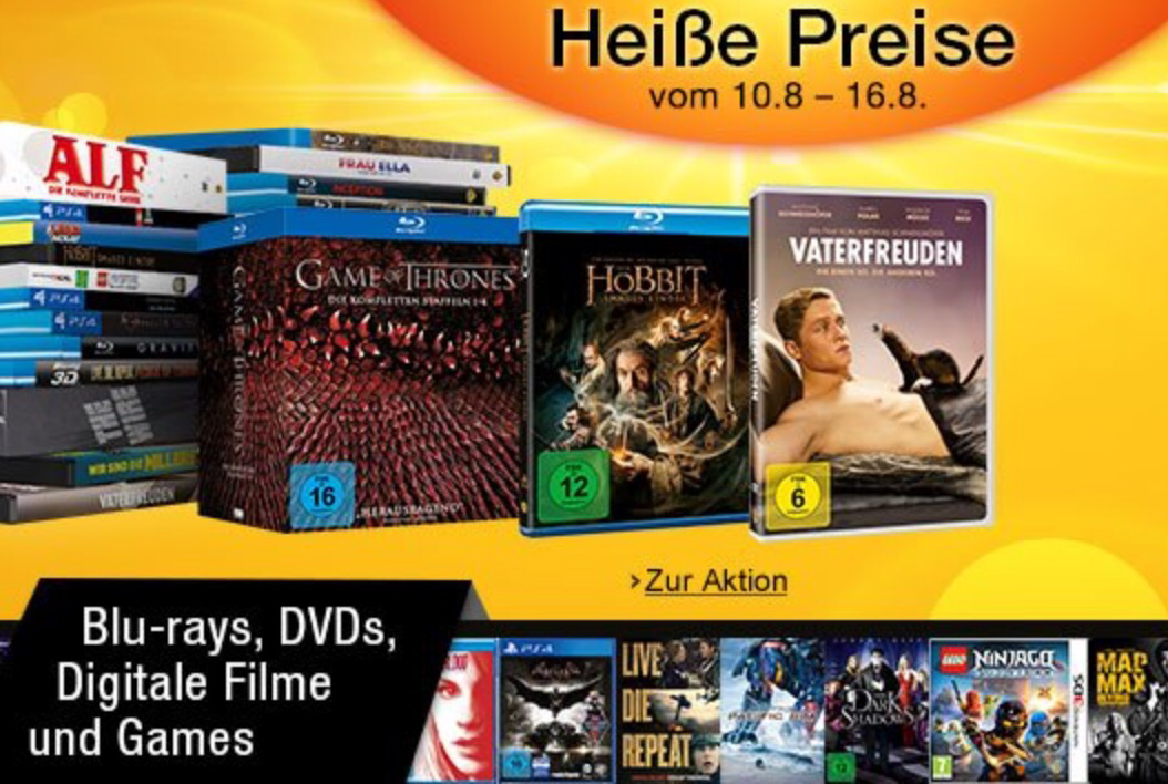 reduzierte Filme, Serienund Games - Heimkino