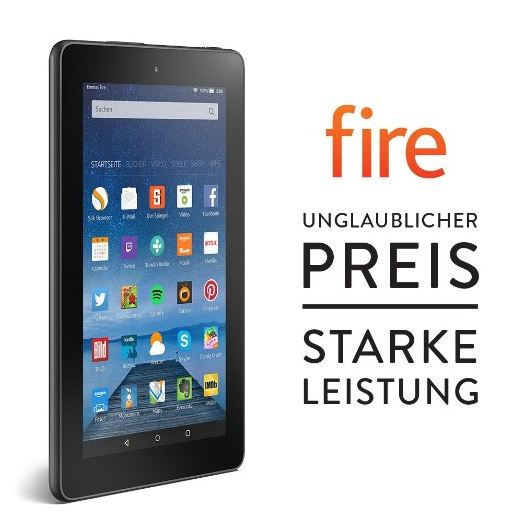 Amazon Fire Tablet - 7 Zoll für 39,99 €