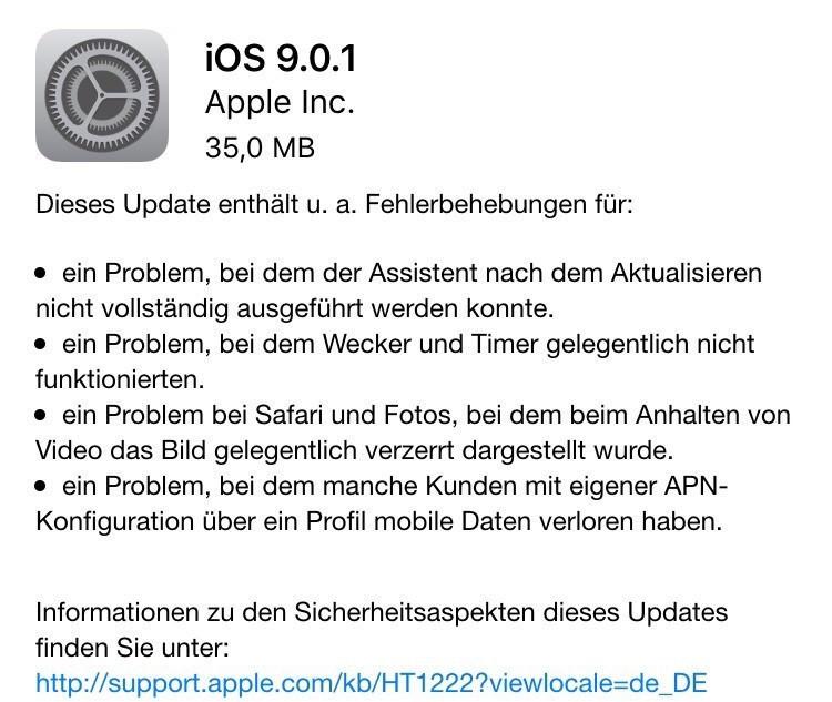 ios.9.0.1-veröffentlicht-iphone-ipad-system-aktualisierung-software