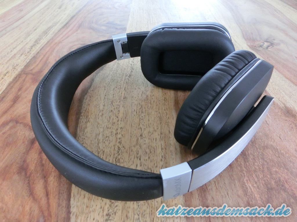 test audiomx hb 8a kabelloser bluetooth over ear. Black Bedroom Furniture Sets. Home Design Ideas